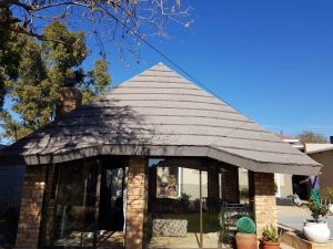 stone coated metal tile roof